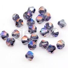 DIY Wholesale Crystal Polyhedron Diamond Loose Spacer Beads 120pcs  Magic Blue