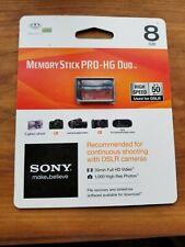 Sony 8gb Ms Pro-hg Duo Hx High Speed Memory Stick - NEW!