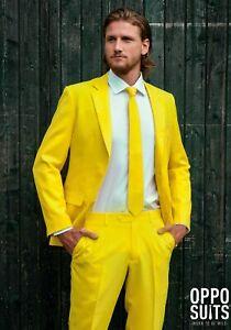 OPPOSUITS Yellow Fellow Formal Suit Mens Size 42 Medium Jacket Pants 36 Coat Tie