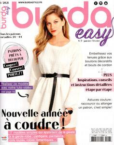 Burda easy N°7 - Nouvelle année à coudre ! (01/2021)