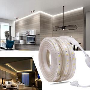 1M-100M SMD 5050 LED Strip 220V 60leds/m Waterproof  Flexible tape rope Light