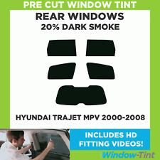 Pre Cut Window Tint - Hyundai Trajet MPV 2000-2008 - 20% Dark Rear