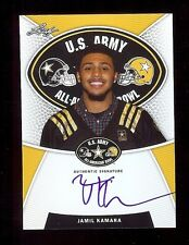 JAMIL KAMARA - Virginia Cavaliers 2014 Leaf Army TOUR Certified AUTOGRAPH RC