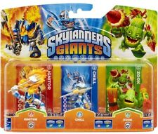 Skylanders Giants IGNITOR CHILL ZOOK Triple Pack NISB Rare! In hand! Swap Force