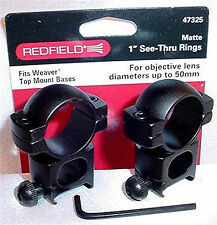 "Redfield 1"" See-Thru Matte Rifle Scope Mount Rings 47325"