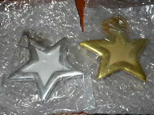 Home Interiors Silver & Gold Hanging Stars Decorative Scented Tiles Fresh Pine