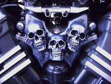 Yamaha V-Max VMax VMX12 Carburetor cover CUSTOM SKULLS 1 pair (2 pieces)