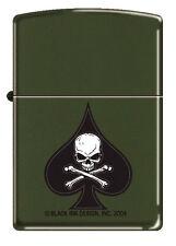 "Zippo Green ""Death Spade"" Ace of Spades w/ Skull and Crossbones"