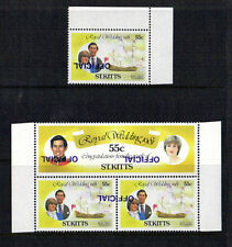 St KITTS 1981 ROYAL WEDDING OFFICIALS WITH INVERTED OVERPRINT MNH