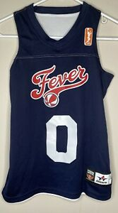 WNBA Fever Youth Medium Jersey Reversible White/Blue