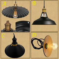 Modern Metal Style Lounge Lighting Ceiling Pendant Light Shades Retro Lampshade