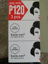Kojie San Skin Lightening Kojic Acid Soap x 3 Bars 100g each - Original Genuine