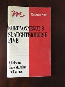 Kurt Vonnegut's Slaughterhouse Five (Monarch Notes) A By Walter James Miller