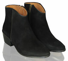 Block Heel Suede Pull On Boots for Women
