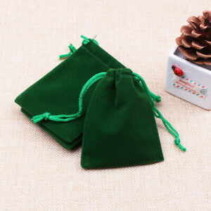 10pcs Velvet Bags Jewelry Packing Wedding Party Favors Gifts Drawstring Pouches
