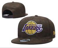 New Era 9Fifty Nba Adult LA Lakers Los Angeles  Snapback Finals Hat Brown 950