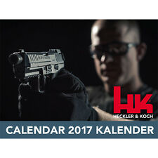 2017 HECKLER & KOCH HK CALENDAR HK45 MR556 P30 G36 P7 VP9 MP5 SP5K *SHIPS NOW