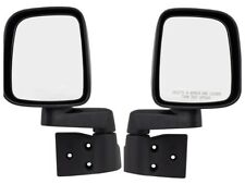03 04 05 06 JEEP WRANGLER TJ FRONT DOOR MIRRORS NEW Black Left & Right PAIR