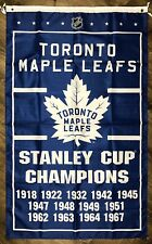 STANLEY CUP TORONTO MAPLE LEAFS NHL Hockey Logo 5/' X 3/' Feet BANNER FLAG