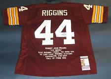 JOHN RIGGINS AUTOGRAPHED WASHINGTON REDSKINS STAT JERSEY JSA
