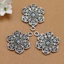 5pcs Train Tibetan Silver Bead charms Pendants DIY jewelry 10x18mm