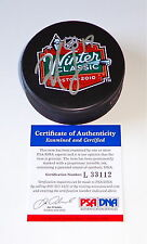 MILAN LUCIC BOSTON BRUINS SIGNED 2010 WINTER CLASSIC PUCK PSA COA L33112