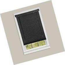 Achim Home Horizontal Blinds Furnishings 1-Inch Wide Window Blinds, 27 By Black