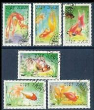 Vietnam, Gold fish set 1990, 6 stamps, used CTO