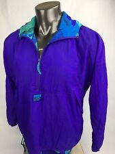 Vintage In Sport For Women Size Large Windbreaker Jacket Hoodie Purple 80's 90's