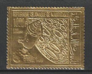 MAURITANIA GOLD FOIL APOLLO 8, SPACE (C86) NH. SCV 20.00.