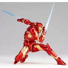 Amazing Yamaguchi Revoltech Iron Man Bleeding Edge MK37 Armor Figure Toy In Box