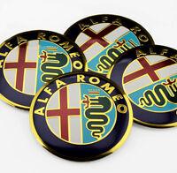 Alfa Romeo x4 56mm Emblem Wheel Centre Cap Sticker Badge Wheel Trims Domed New