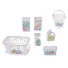 Dolls Miniature Laundry Room Acces Cleaning Tools for Doll 7pcs/set