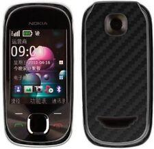 Skinomi Carbon Fiber Black Phone Skin+Screen Protector Cover for Nokia 7230