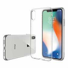 """For iPhone XS MAX XR X 6.5"""" ThinTransparent Rubber Clear Soft Phone Case Cover"""