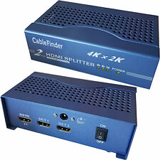 2 Port/Way 4K HDMI Splitter – 1 Input 2 Output Full/Ultra HD Sky Multi-room TV