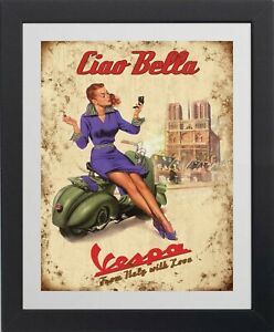 Vespa Scooter picture poster 3 sizes TP268