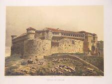 España.Segovia. «Castillo de Cuellar» Dibujó Parcerisa. Litografió s. Ysla.y Lab