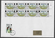 FALKLAND ISLANDS 2008 QEII Cover 150 Anniversary Overprint 17p Block 8 Margin