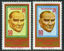 Turkey 1607-1608, MI 1894-1895, MNH. Kemal Ataturk, 25th death anniv. 1963