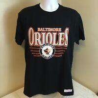 Mitchell & Ness Mens Shirt Large Baltimore Orioles MLB Black NWT Free Shipping!
