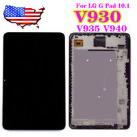"USA 10.1"" For LG G Pad V930 LCD Display Touch Screen Digitizer Assembly Frame JQ"