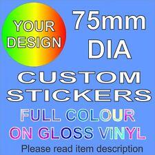 Custom Vinyl Stickers - 75mm dia - School Business Logo Vehicle School Wedding
