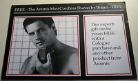 Advertising Mens Aramis Mini Cordless Shaver Braun Binns 1984 - unposted