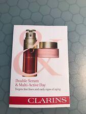 CLARINS Double Serum 0.9 ml + Multi-Active Day Cream 2 ml Samples Authentic