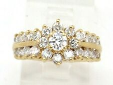 Cluster Right Hand Ring 1.57ct 14k Yellow Gold Round Diamond