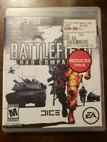 BATTLEFIELD BAD COMPANY - PS3 - COMPLETE W/ MANUAL - FREE S/H - (B32A)