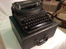 Vintage 1940 Underwood Noiseless Portable Typewriter W/Case Wrkg. Very Nice