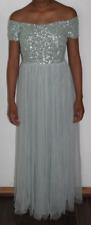 Maya Petite Bardot Maxi Dress Sequins & Tulle Skirt Mint Size UK 10 DH089 AA 07