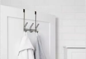 Threshold Over-The-Door Hook Rack Bronze Rust Resistant organization